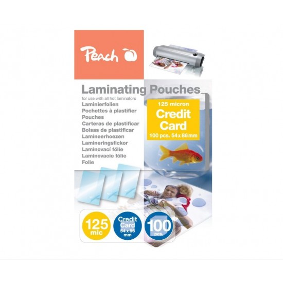 Folie laminare 54x86mm 125mic Crosuit Card 100/top Peach PP525-07 510326