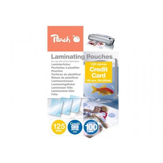 Folie laminare 54x86mm 125mic Crosuit Card 25/top Peach PPR525-07 510440