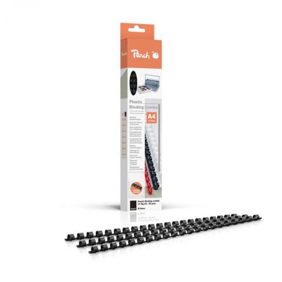 Spirale plastic 8mm negru 25/cut Peach R-PB408-02 510560