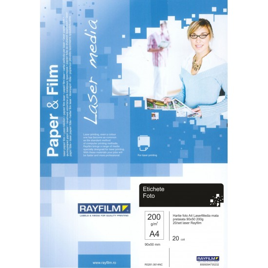 Hartie foto Rayfilm A4 LaserMedia mata pretaiata