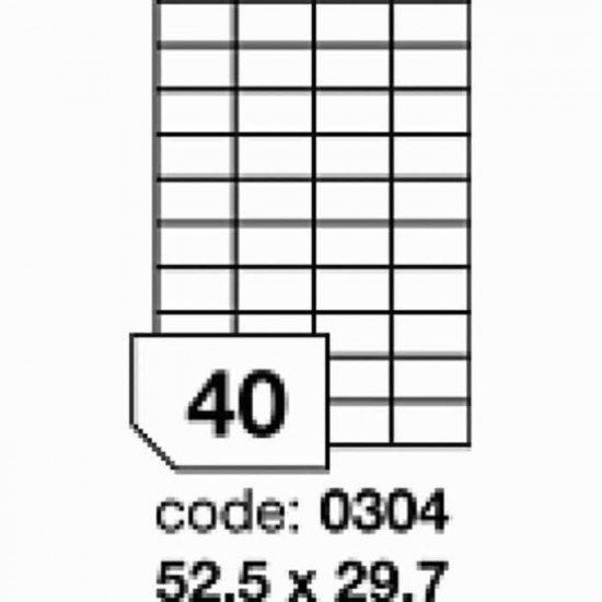 Etichete autoadezive Rayfilm 52.5x29.7 alb-mat