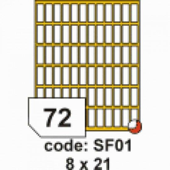Etichete autoadezive Rayfilm SOHO 8x21
